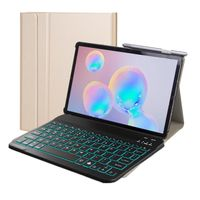 2in1 Keyboard Cover für Samsung Galaxy Tab S5e T720 T725 mit Standfunktion Tastatur Gold