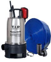 """T.I.P. Schmutzwassertaumpumpe Maxima 250 PX + 10 m Schlauch 1 1/4""""; 30266"""