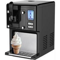 Syntrox Eis Chef IC-200 Arctis - Digitale Eismaschine mit Kompressor Softeis 250 Watt schwarz Frozen Joghurt Sorbet Shakes Fruchteis