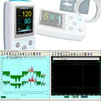ABPM50 Blutdruck Monitor ambulanter Blutdruckmonitor Blutdruckmessgerät Analysis Software Contec Manschetten LCD 24 Stunden Langzeit