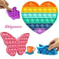 4 Stück pop it!Push Bubble Fidget Antistress Toys Erwachsene Kinder Pop Fidget Sensory Toy