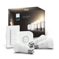 Philips Hue Bluetooth White LED E27 75W 1050lm Dreierpack inkl. Bridge & Dimmschalter