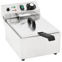 10 L 3000 W Elektro-Fritteuse mit Temperaturreglern, mit Sicherheitsfilter, Fritteuse Fritöse Imbiss, Edelstahl