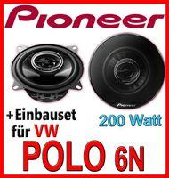 Pioneer TS-G1032i - 10cm Koax-System Lautsprecher - Einbauset für VW Polo 6N - justSOUND