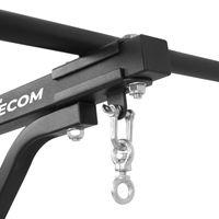 FITecom Boxsack Wandhalterung mit Klimmzugstange Fitnessgerät Krafttraining