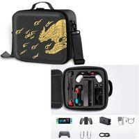 Tragetasche Reisetasche für Nintendo Switch mit Monster Hunter Rise Muster, tragbare Schutztasche Schutzhülle Hartschalen für Nintendo Switch Konsole & andere Switch Zubehör