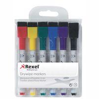 Rexel Trocken abwischbare Mini-Marker, sortierte Farben (6), 110 mm, 150 mm, 150 mm