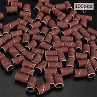 100pcs Schleifkappen Schleifhülsen Schleifbänder für Nagelfräser