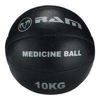Medizinball - Crossfitball - Medizinball - Schwarzes Leder - 10 kg