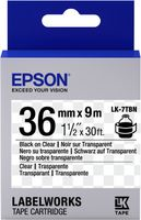 Epson Etikettenkassette LK-7TBN - Transparent - schwarz auf transparent - 36mmx9m, Schwarz auf transparent, Japan, LabelWorks LW-1000P LabelWorks LW-900P, 3,6 cm, 9 m, 1 Stück(e)