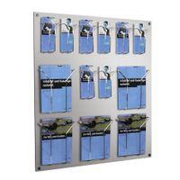 Wand-Prospekthalter flexibel / DIN A4 + DIN lang