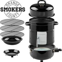 Orange County Smoker 60360004 Elektro SmokerElektrischer Smoker mit 3 Ebenen, Räucherfass ohne Flamme