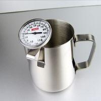 Edelstahl Rostfreier Kaffee Aufschäumen Milch Tee Latte Krug mit Thermometer