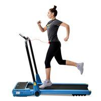 Merax Laufband elektrisch Laufband Klappbar Elektrisches Laufbänder Lauftraining Fitnessgerät 12 km/h mit Remote contral , 1,5 PS Leistungsstarker Motor, Blau