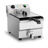 Royal Catering Elektro-Fritteuse - 13 Liter - 3.200 W - Ablasshahn - Kaltzone