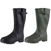 Regenstiefel Herrenschuhe Gummistiefel Wadenhohe Stiefel Runde Zehe Schwarz Mode