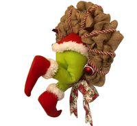 Darmowade-Grinch Kranz, Weihnachtsgirlande, Wie der Grinch Weihnachten Sackleinen Kranz Dekorationen Super Süße und Schöne Tolle Geschenke für Freunde Girlande Kranz Weihnachten