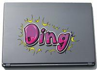 Laptopaufkleber Laptopskin Comic 056 - Lustiges Motiv Ding - 150 mm Aufkleber