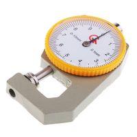 0 10mm Flachkopf Dickenmessgerät Messen Leathercraft Mechanisches Werkzeug 0.1mm
