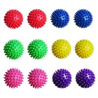 Igelball Massageball Noppenball 6,5cm 12er Set (rot, blau, grün, gelb, pink, lila)