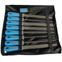 9 tlg Feilen Set für Holz und Metall Raspel Werkstattfeile Halb- Rundfeile Vierkantfeile Flachfeile
