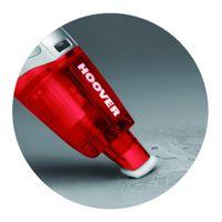 Hoover SJ60WWR6, Trocken&Nass, 75 dB, Beutellos, 0,3 l, Rot, Weiß, 0,2 l