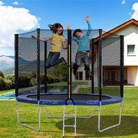 Outdoor-Trampolin mit Sicherheitszaun und Leiter, 10 FT Gartentrampolin mit 150 kg, hat den GS- und bestanden