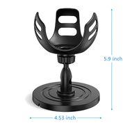 360 ° Drehung Tischhalterung Ständerhalter in Schwarz für ECHO DOT 4 / Apple Homepod Mini