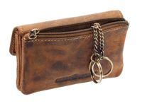Greenburry Vintage Leder Schlüsseletui Schlüsseltasche Schlüsselmäppchen 1708A