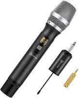 Bluetooth UHF Mikrofon, kabelloses Handmikrofon Wireless Microfhone Tragbares Funkmikrofon Dynamisches Mikrofon Karaoke Anlage mit Empfänger wiederaufladbar Reichweite mehr