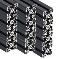 PremiumX 12x 2000mm Aluminium Profil Aluprofil 40x40 mm Nut 8 Strebenprofil Anthrazit