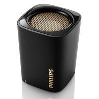 Philips BT100B - Lautsprecher - tragbar - drahtlos - 2 Watt - Schwarz