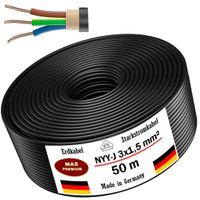 Erdkabel Stromkabel 50 m NYY-J 3x1,5 mm² Elektrokabel