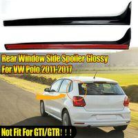 Paar Vertikale Hecksspoiler Heckklappenspoile Schwarz für VW Polo MK5 2011-2017