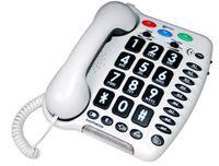 Geemarc Amplipower 40 Schwerhörigentelefon extra laut 40 dB Weiß  Deutsche Version
