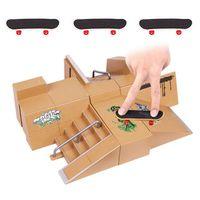 Fingerboard Mini Legierung Fingerskating Board Skate Park Kit Veranstaltungsort Kombination Spielzeug Kinder Skateboard Rampe Track Paedagogisches Spielzeug Set【(M) 35 * 25 *11 cm 】