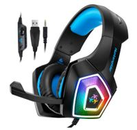 Stereo Gaming Headset Deep Bass Over Ear Game Headset mit Mikrofon LED Licht für ps4 PC