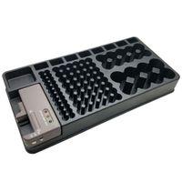 2 in 1 Batterie-Organizer Batterie Aufbewahrungsbox Etui für 100 Batterien, Batteriehalter mit Austauschbarem Batterietester