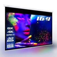"ESMART Professional MIROLO | Rolloleinwand | 266 x 149 cm (120"") 16:9 | Vollmaskierung | Heimkino Beamer Projektionsleinwand Rollo Leinwand LCD LED"