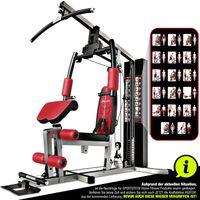 Sportstech einzigartige 30in1 Premium Kraftstation HGX100 für unzählige Trainingsvarianten. Multifunktions-Homegym mit Lat-Zugturm, Fitnessstation aus EVA Material für zuhause - robuste Konstruktion