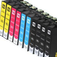 kompatibel 10 Patronen T1631 - T1634 Epson alle Farben WF-2630, 2010W, 2500 Series, 2510WF 2520NF  2530WF 2540WF 2630WF 2650DWF 2660DWF 2700 2750DWF 2760DWF Tintenpatronen XL-Version