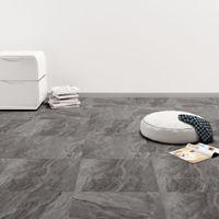 PVC Laminat Dielen Selbstklebend 5,11 m² Schwarz mit Muster