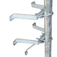 PremiumX Sat-Mauerhalter Wandabstandshalter Wandabstand 10cm für Mast Ø 60mm aus verzinktem Stahl