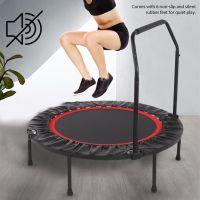 "40"" Mini Trampolin Faltbar Fitness Trampolin mit Griff Erwachsene Jumping Outdoor 150kg"