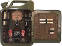 The JerryCan Bar / Die Minibar für echte Männer / Kanisterbar / Original 20 Liter US Benzinkanister umgebaut zu einer tragbaren Minibar / Männerhandtasche