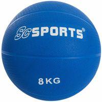 ScSPORTS® Medizinball Medizin- Ball in blau 8 Kg ohne Griffe