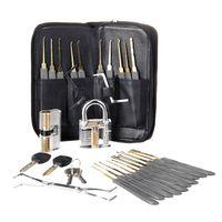 16 tlg. Lock Pick Kit Lockpicking Set Transparente Trainingsschlössern Werkzeug für Anfänger