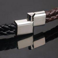 Retro Mode Schwarz Braun Leder Hanf Seil Armband Hand-made PU Leder Armband Armreif F/ür Frauen M/änner Schmuck Weihnachtsgeschenk