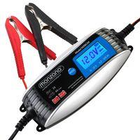 KFZ Batterieladegerät vollautomatisch 6V 12V Auto Motorrad Ladegerät LCD-Bildschirm Erhaltungsladung