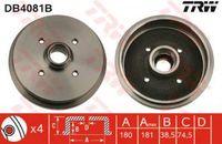 Trw Bremstrommel Hinterachse DB4081B